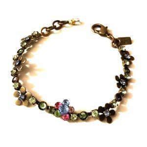 Jewelry - NWOT La Contessa Brass n Crystal Spring Bracelet
